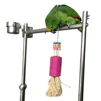 Wholesale Parrot Pet Bird Chew Toy Wooden Straw Cage Accessory YW29