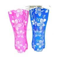 Wholesale 2PC Eco Friendly Portable Foldable Flower PVC Plastic Durable Vase Home Wedding Party Decorations