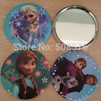 Wholesale New Frozen Princess Elsa Anna makeup mirror mini kawaii portable cosmetic mirror ps wholesales