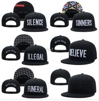 animal funerals - Black Scale Silence Snapback hats Believe Absence Funeral Illegal Sinners mens women classic adjustable cap freeshiping