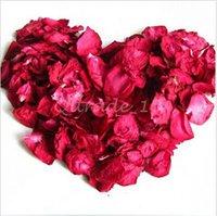 Wholesale 100set CCA3272 High Quality g Bag Bath Rose Dried Flower Skin Care Bath Real Rose Petal Wedding Decoration Rosa Bride Romantic Rose Petals