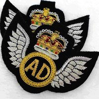 ad imports - The manual import spot AD wire India military silk embroidery badges suit bags accessories x6