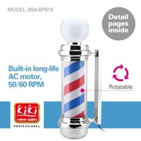 Wholesale 337D small size autorotation Barber Pole with lamp Professional barber Salon Equipment Barber Sign popular barber producs