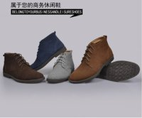 Wholesale New Hot Classic Genuine Leather Fur No fur Snow Boots Men Suede Boots Outdoor Brand Work Rubber Sole Shoes MS1001