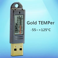 applied services - temperature data logger C PC thermometer service room email alarm Apply to environment monitoring computer data storage Gold TEMPer
