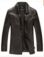 Wholesale Fall New Warm Winter Sheepskin Men s Leather jacket Men Leisure Fur coat Brand luxury Real Leather coat