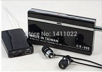 Wholesale CX Mini Wireless Transmission listener Receiver Audio Sound Recorder Transmitter Monitor Bug MP3 Player in m