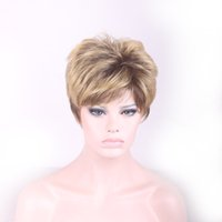 blonde wigs short hair - Synthetic wigs women wigs full lace human hair wigs short fine hair blonde ombre wig short pelucas pelo natural new arrival