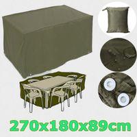 Wholesale 6 Seater Waterproof Furniture Set Cover Shelter Patio Garden Rectangular Rain x180x89cm
