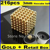 Wholesale Genuine Gold mm Neocube Balls Magnetic Neodymium Cube Magnet Balls Magnetic Bukeyballs Box