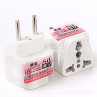 Wholesale EU Travel Adapter Universal to Europe Foreign Socket Converter World Power Plug Round pin Convertor Euro Plugin Port Outlet Home European