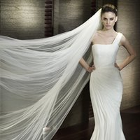 Wholesale one Layer M Long Tulle Cathedral Length Wedding Bridal Veils With Comb High Quality CGL05
