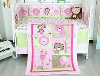 baby comforter selling - J G Chen hot sell New Baby Crib Cot Bedding Set Quilt Bumper Sheet Dust Ruffle items for Girl