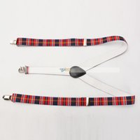 Wholesale New cm Red Blue Grid Elastic Braces Charming Gentry Clip On Suspenders