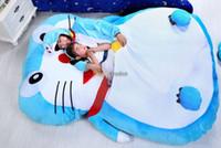 Wholesale Fancytrader cm X cm Super Cute Huge Doraemon Double Bed Carpet Tatami Sofa bean bed FT50320