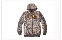 Wholesale new sale Browning thick warm two sides wear REALTREE AP camouflage hoodie jacket men sweater fleece hunting jacket C141