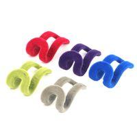 Wholesale 1pc Home Mini Flocking Clothes Hanger Easy Hook Closet Organizer