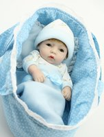 Girls badger basket - Badger Basket Doll Cradle Cotton Fabric Doll s Bed Cradle Quilt Pillow NEW Blue color for quot baby doll accessories