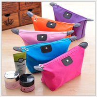 Wholesale Fashion Korean Style Cosmetic Bag Nylon Waterproof Can be Folded Washing Bag Many Colors DHL