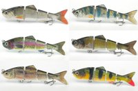 Wholesale 4 quot Multi Jointed Muitisegments Fishing Lure Bait Swimbait Minnow Crank Dace Bass Life Like Fishing Tools