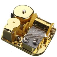 Wholesale New Special Offer Hot Sale Unique Notes DIY Mechanical Musical Box Golden Movement Screws Castle In The Sky Key Great Gift
