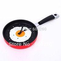 Wholesale Creative Omelette Fry Pan Kitchen Fried Egg Design Wall Clock Decor