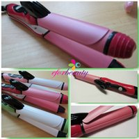 Wholesale 2 In Curler Straightener Hot Hair Iron Curling Ceramic Wave Good Quality Hot Selling