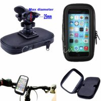 bicycle bar pad - New High Quality Bicycle Motor Bike Motorcycle Handle Bar Holder Waterproof Case Bag EVA Foam pad For Apple For iphone C S