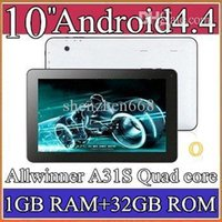Wholesale 50pcs Google inch Quad core GHz Allwinner A31S Android tablet pc Capacitive g1GB GB Dual Camera HDMI Bluetooth USB OTG PB10A