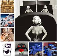 Cheap Cotton Marilyn Monroe 4 pcs Bedding Set Quilt Duvet cover Bed Sheet Pillowcase Bedclothes Bed Linen Bedding Supplies Home Textiles