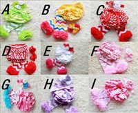 Wholesale 18 OFF styles set chevron leg warmers ruffle bloomer headband set red Baby Bloomer Diaper Cover Ruffle Bum Newborn Headband Set