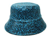 fishing blanks - 2014 new leopard bucket hats for men women casual cool outdoor beach fishing hat colors good quality blank