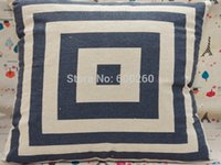 Wholesale Linen Home Decor Throw Pillow Cases Square Pillowcases Car Back Cushion Cover New