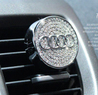 air conditioning supplies - New arrival High grade vw zinc alloy crystal car air conditioning out tuyere with drill perfume car auto supplies