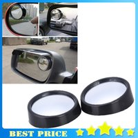 Wholesale 1 Pair Driver Side Wide Angle Round Convex Car Vehicle Mirror Blind Spot Auto Rear View L