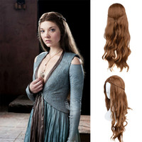 Wholesale 2015 Cosplay Wigs Holloween Wigs Margaery Tyrell Hair Wigs The Game Of Thrones Long Hair Wigs