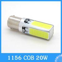 Wholesale White led COB w P21W ba15s S25 LED Interior Fog Brake Parking backup Bulb Light Lamp DC V car styling