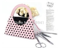 Wholesale Wedding Favors in Manicure Set Pink Polka Dot Manicure Set sets