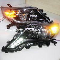 headlight projector lens - 2014 year Prado FJ150 LED Headlight with Projector Lens Black Housing LD