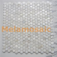 Wholesale Hexagon Oyster White Mosaic Backsplash for Kitchen or Bathroom Wall Tile