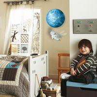 venda por atacado encanto do ouro chinês-Funlife Luminous Acrílico Terra relógio de parede com o Iron parede Astro Boy Pendulum brilhando no escuro quarto Decors wcBD1420