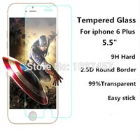 apple iphone retailers - 5 inch for Apple iPhone plus Tempered Glass Film Screen Protector with Retailer Packing for iPhone Anti Shock Glass Sheet