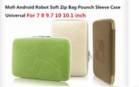 Wholesale New Arrival Cute Universal Mofi Zipper Android Sleeve Case For Inch Tablet PC MID GPS Epad