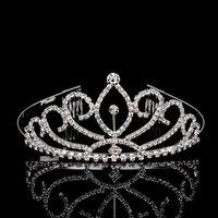 rhinestone hair comb - 20PCS Shiny Crystal Wedding Crown Tiara Hair Combs Sliver Plated Bridal Hair Accessories Women