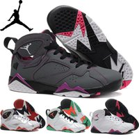 girls basketball shoes - Nike dan Retro VII GS Hot Lava Sweater Olympic HARE French blue Womens Basketball Shoes Sneakers AJ7 Retro J7 Women Girl Sneakers