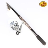Wholesale Goture Portable Telescopic Spinning Fishing Rod with Reel Combos Carbon Fiber Generic Bearings GT3000V Spinning Fishing Reel