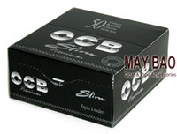 black paper - MAYBAO one box of Black slim OCB Cigarette Rolling Paper mm x mm OCB Cigarette Rolling Paper booklets
