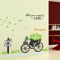 bicycle quotes - Creative Bicycle Leaves Corridor Sticker Decor Baby Kids Room Paster Art Wall Decals Quotes