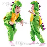 Cheap Wholesale-New 2015 Children Animal Dinosaur Costumes For Kid Halloween Party Cartoon Character Costume Cosplay