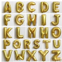 party happy birthday - 26pcs inch Cute Gold Silver Alphabet Letters Foil Balloons Happy Birthday Party Supplies Wedding Decoration Ballon Classic toys